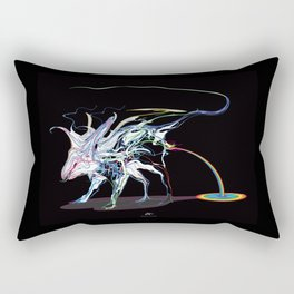 Rat and rainbow. multicolored on dark background - (Red eyes series) Rectangular Pillow