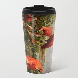 Flock of  Coral Colored Ibis Grooming Travel Mug