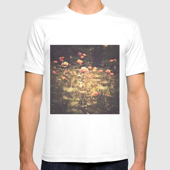 One Rose in a Magic Garden (Vintage Flower Photography) T-shirt