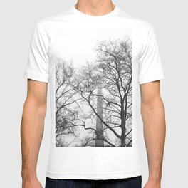Branches and Smokestack Against a Foggy Sky T-shirt