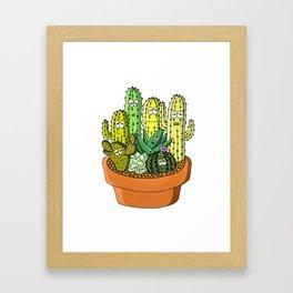 Cacti Party Framed Art Print