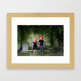 Hello Good Evening Framed Art Print
