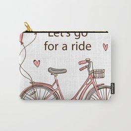 Cartoon Bike Carry-All Pouch