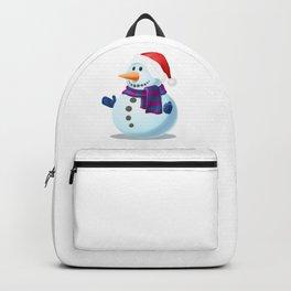 Snowman in Winter Backpack