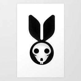 Dead bunny can't jump Art Print