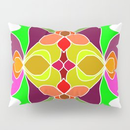 Hand-drawn Henna Mandala Flowers Pillow Sham