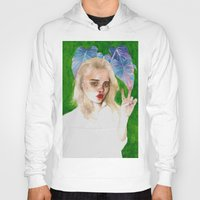 sky ferreira Hoodies featuring SKY FERREIRA PLUS PLANTS by Jethro Lacson
