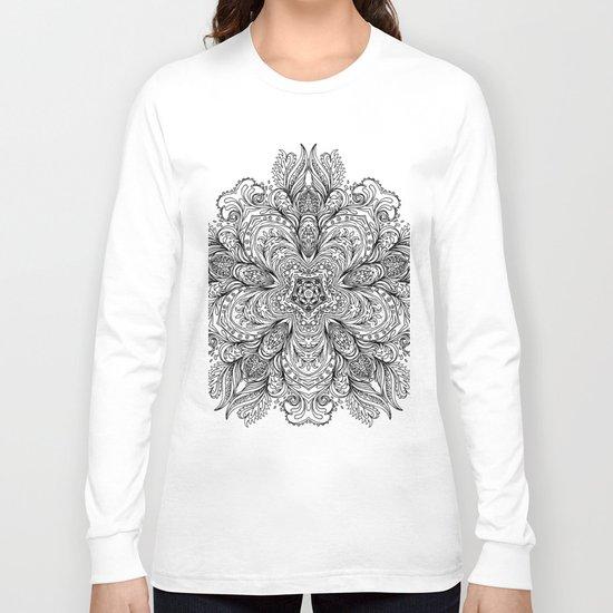 B&W Indian Mandala Long Sleeve T-shirt