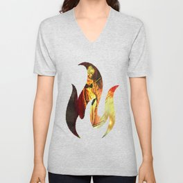 Night is on Fire Unisex V-Neck