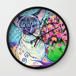 Orient - Siamese Cat Art Wall Clock
