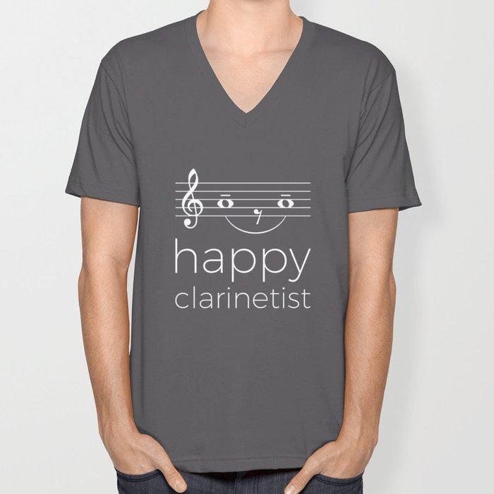 Happy clarinetist (dark colors) Unisex V-Neck