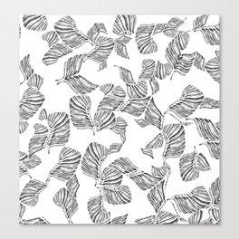 Slate Leaf Canvas Print