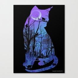 CAT MOON Canvas Print