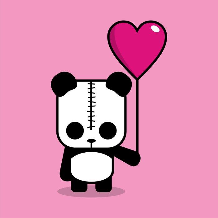 Lezzi Panda - Falling in Love Comforters