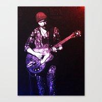 u2 Canvas Prints featuring U2 / The Edge by JR van Kampen