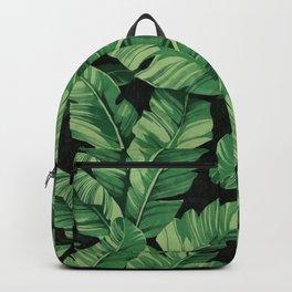 Tropical banana leaves II Backpack