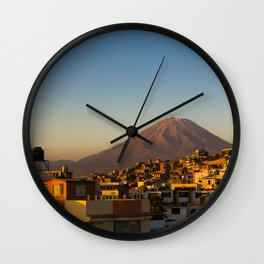 Misti Mountain Wall Clock