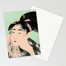 Utumaro #1 Green Stationery Cards