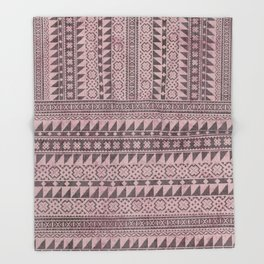 triangle kilim in pale pink Throw Blanket