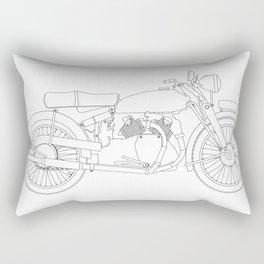 Motor Cycle Outline Rectangular Pillow