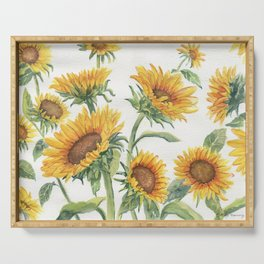 Blooming Sunflowers Serving Tray