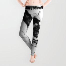 White & Black Marble Leggings