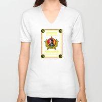danny ivan V-neck T-shirts featuring Ivan Drago by SuperEdu