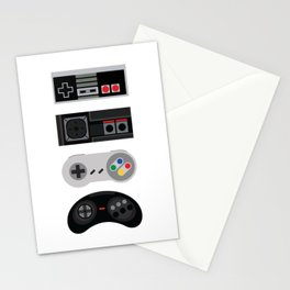 4 Retro Video Game Controllers - Vector Art Stationery Cards