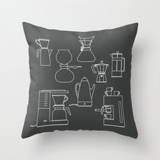 coffee makers Throw Pillow