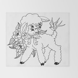 Wholesome Lamb Throw Blanket