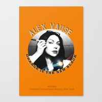 alex vause Canvas Prints featuring Alex Vause - OITNB Character by Sandi Panda