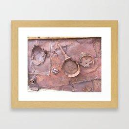 Industrial rust lust Framed Art Print