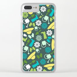 Spring Garden Print 2 Clear iPhone Case
