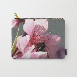 Unidentified Winged Insect On Peach Tree Blossom Carry-All Pouch