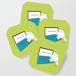 Techie Great Pyrenees Puppy Coaster