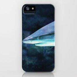 Gray Shark Head (Color) iPhone Case
