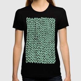 Hand Knit Mint T-shirt