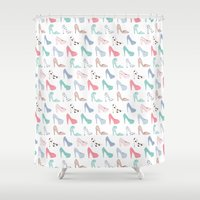 heels Shower Curtains featuring Cute Heels by Mayleemouse