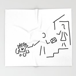 postman mailman post Throw Blanket