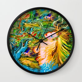 ART  PRINT/NUDE MERMAID LADYKASHMIR MOBILE DEVICE /LAPTOP/I POD / Wall Clock