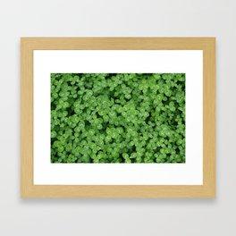 Love Green Framed Art Print