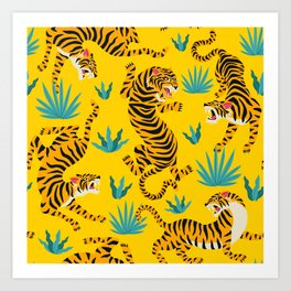 Tiger Print Art Prints | Society6