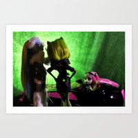 monster high Art Prints featuring Envy - As Told By Monster High Dolls by Lydia Schoepflin
