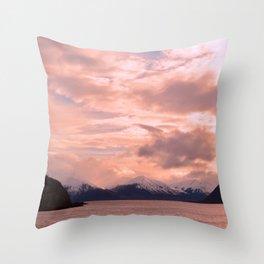 Rose Quartz Over Hope Valley Throw Pillow