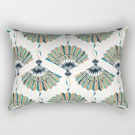 Folding Fan – Teal & Gold Palette Rectangular Pillow