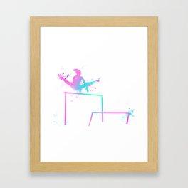 Gymnast - Bars Framed Art Print