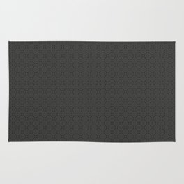 Dark Grey Power Pattern Rug