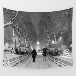 Strangers in the snow Wall Tapestry