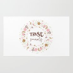 Girly Uplifting Quote – Trust Yourself Rug