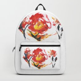 Abstract Fire Flower Acrylic Drawing Backpack